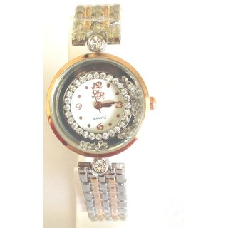 LRs multi clour crystal stunned dial  Multy colour braclate style beautiful wrist watch for women  girl (F-129)