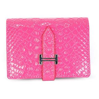 Buy fab fashion womens business card holder pink color id card daily fab fashion womens business card holder pink color id card daily used wallet pu25019 colourmoves