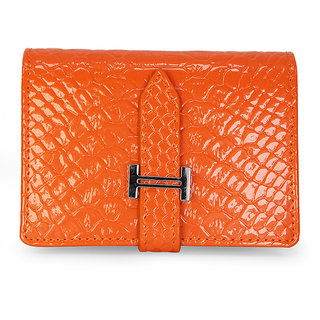 Buy Fab Fashion Womens Business Card Holder Orange Color Id Card