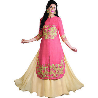 KAARVAAN semi stitch salwar suit for womens