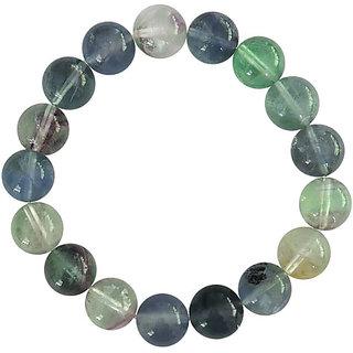 Multi Flourite Gemstone Beads 8 Stretch Bracelet