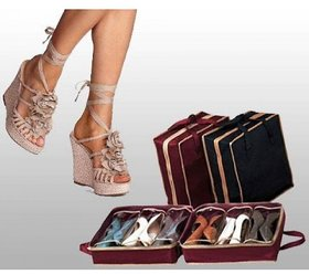 Multipurpose 6 Pair Shoe Organizer Portable Easy to Travel