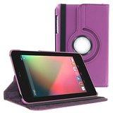 Rka 360 Degree Rotating Smart Leather Case Cover For Asus Google Nexus 7 1St Gen 2012 Model Tablet Purple