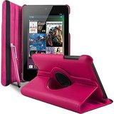 Rka 360 Degree Rotating Smart Leather Case Cover For Asus Google Nexus 7 1St Gen 2012 Model Tablet Hot Pink