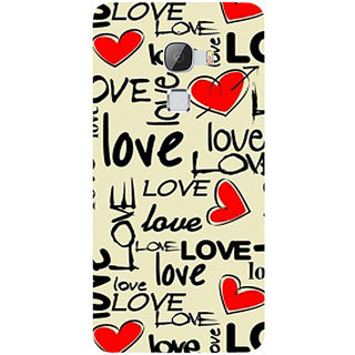 Casotec Love Hearts Design Hard Back Case Cover For Letv Le Max