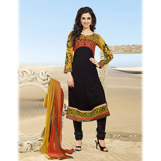 Embroidered Black A-Line Suit Design 2