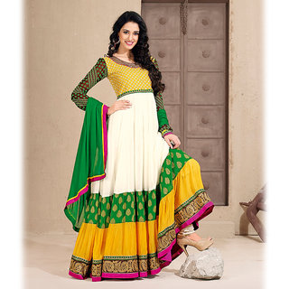 Multicolor Anarkali Salwar Kameez Suit