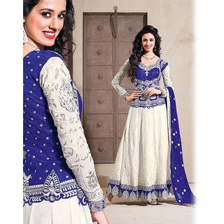 White Anarkali Salwar Kameez Suit