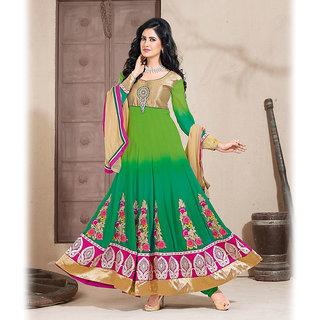 Green Anarkali Salwar Kameez Suit