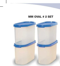 Tupperware MM Oval 2 (1.1 Ltrs) - Set of 4