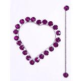 Shop 24x7-Beautiful Crystal Stone Heart Shape Curtain Lock (Set Of 2)
