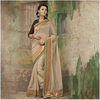 Beige Designer Party wear Saree