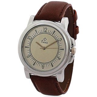 Fiesta Brown Leather Analog Watch