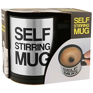 Self Stirring Mug with Lid for Coffee Tea Juices Shakes Tea Cup