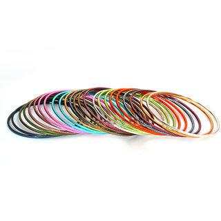 Pourni Set Of 24 Multi-Colored Bangles