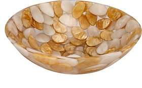 Zahab GOLDEN ROUND RESIN WASH BASIN G101 Table Top Basin(GOLDEN)