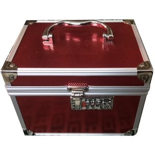 Red  Silver Vanity Box For Womens