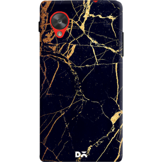 DailyObjects Black  Lava Marble Case For LG Google Nexus 5