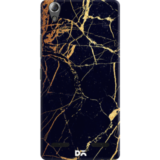 DailyObjects Black  Lava Marble Case For Lenovo A6000