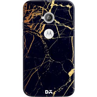 DailyObjects Black  Lava Marble Case For Motorola Moto E2