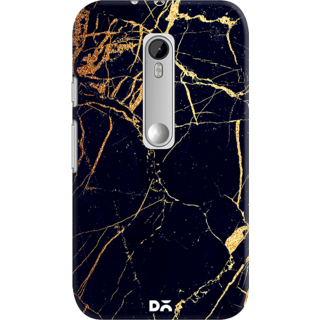 DailyObjects Black  Lava Marble Case For Motorola Moto G3