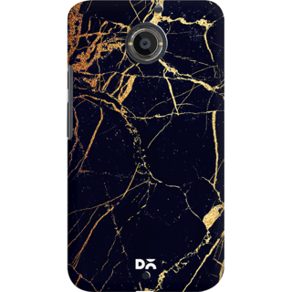 DailyObjects Black  Lava Marble Case For Motorola Moto X2