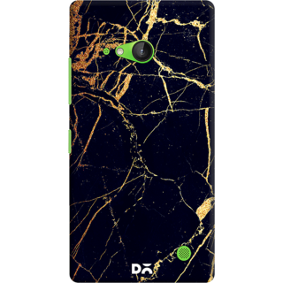 DailyObjects Black  Lava Marble Case For Nokia Lumia 730