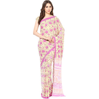 Fostelo Pink Chiffon Printed Saree With Blouse