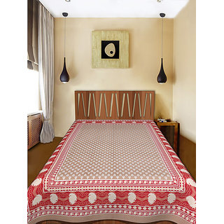 Cotton Rajasthani Printed King Size Single Bed Sheet