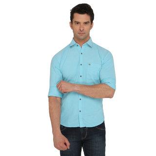Donear NXG Casual Aqua Plain Shirt
