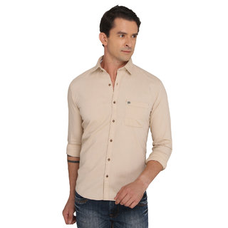 Donear NXG Casual Brown Plain Shirt