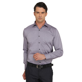 Donear Nxg Purple Color Wrinkle Free Cotton  Formal Shirt