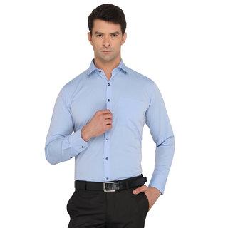 Donear Nxg Blue Color Cotton Formal Shirt
