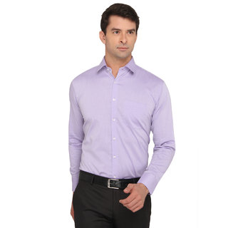 Donear Nxg Purple Color Cotton Formal Shirt