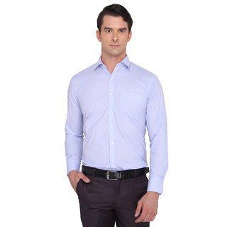 Donear Nxg Sky Blue Color Poly Cotton Formal Shirt