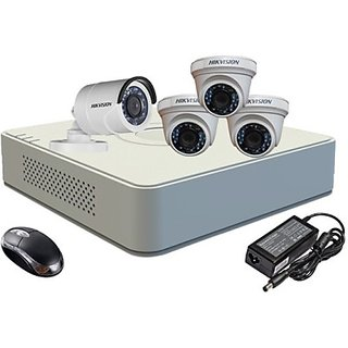 Hikvision HDTVI Combo,  HDTVI DS-2CE56COT-IRP Dome Camera 3Pcs+ DS2CE16COTIR Bullet 1Pcs + HD Mini DVR 4 DS-7104HWI-SH