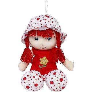 Soft Buddies Red Baby Doll Soft Toy - 35cm