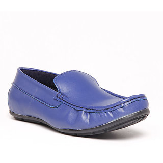 Foster Blue Blue Men's Loafer Stylish Shoes - Option 1