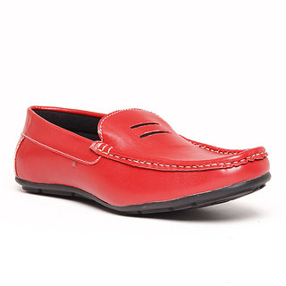 Foster Blue Red Men's Loafer Stylish Shoes - Option 1