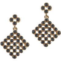 Urthn Alloy Black Contemporary Danglers Earrings - 1306723