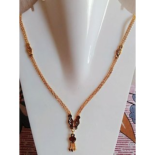 New one gram gold plated chain cum necklace