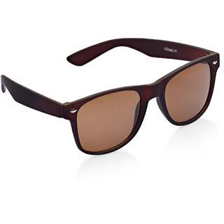 Vicbono Brown UV Protection Wayfarer Men Sunglasses