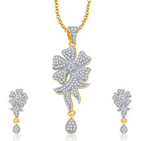 Sukkhi Genuine Gold And Rhodium Plated CZ Pendant Set For Women
