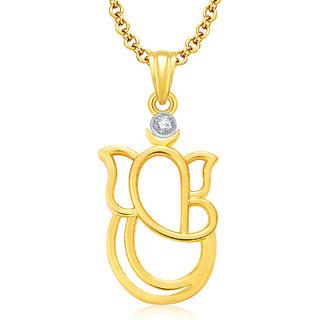 Sukkhi Ganesha Gold And Rhodium Plated CZ Pendant For Women