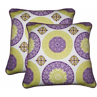 Lushomes Bold Print Cotton Cushion Covers (Size 12 x 12) Pack of 2