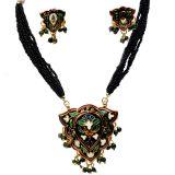 Black Rajasthani Designer Brass Necklace Set 103 309878
