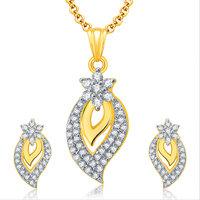 Sukkhi Spontaneous Gold And Rhodium Plated CZ Pendant Set For Women