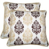 Lushomes Earth Print Cotton Cushion Covers (Size 12 x 12) Pack of 2