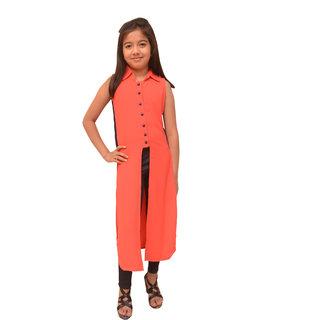 Titrit Peach cape dress without legging