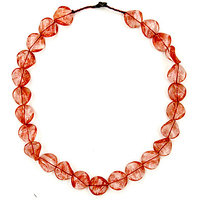 Red Curve Crystal Necklace, Red Curved Crystal Necklace, Curved Crystal Necklace, Crystal Necklace, Necklace
